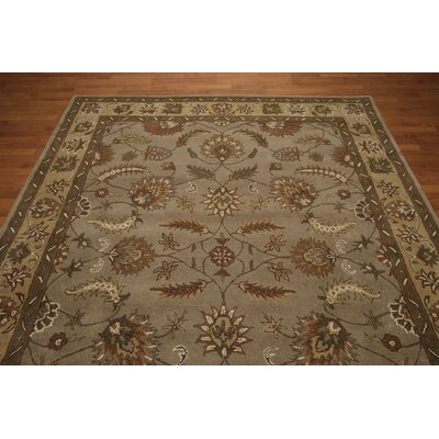 One-of-a-Kind Godolphin Hand-Tufted Wool Greenish Gray/ Brown Area Rug