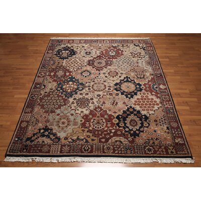 One-of-a-Kind Repass Oriental Hand-Knotted Wool Rust/Beige Area Rug