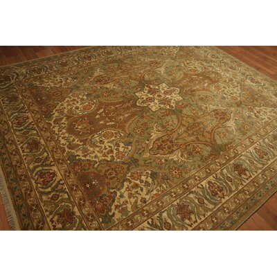 One-of-a-Kind Randle Wool Beige/Brown Area Rug