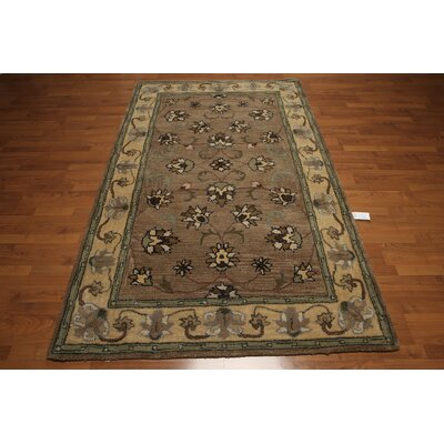 One-of-a-Kind Dimartino Hand-Tufted Wool Brown/Light Green Area Rug