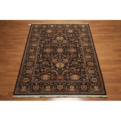 One-of-a-Kind Rankin Wool Beige/Chocolate Area Rug