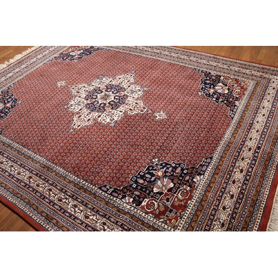 One-of-a-Kind Ransome Bidjar Oriental Persian Hand-Knotted Wool Rusty Red/Ivory Area Rug