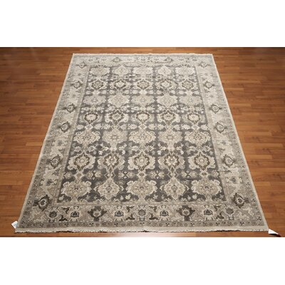 One-of-a-Kind Renz Hand-Knotted Wool Charcoal/Gray Area Rug