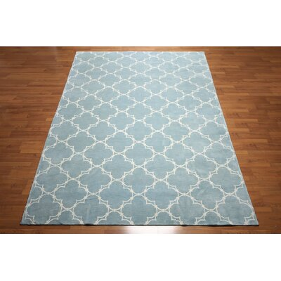 One-of-a-Kind Haines Hand-Knotted Wool Blue Area Rug