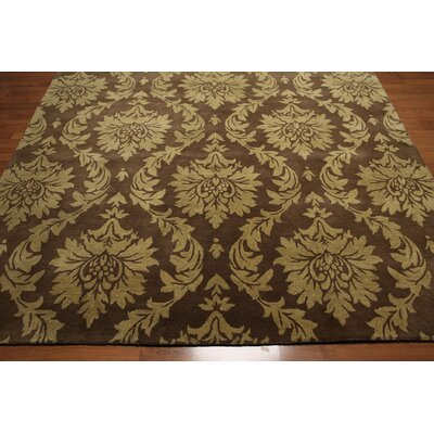 One-of-a-Kind Callen Hand-Knotted Wool Brown/Mustard Area Rug