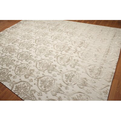 One-of-a-Kind Leone Hand-Knotted Olive/Beige Area Rug