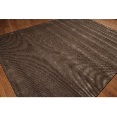 One-of-a-Kind Schaub Hand-Knotted Wool Tone on Tone Brown Area Rug