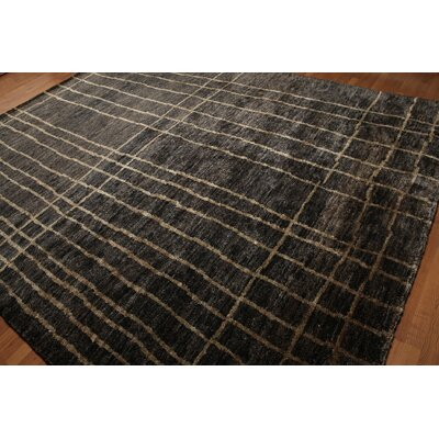 One-of-a-Kind Diller Modern Hand-Knotted Wool Beige/Charcoal Area Rug