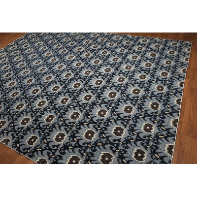 One-of-a-Kind Hackett Hand-Knotted Wool Blue/Navy Area Rug