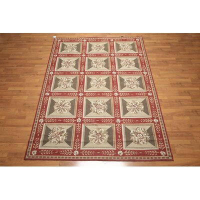 One-of-a-Kind Gaytan Hand-Woven Wool Beige/Olive Area Rug