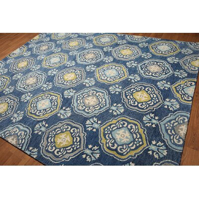 One-of-a-Kind Hammersmith Hand-Tufted Wool Blue Area Rug