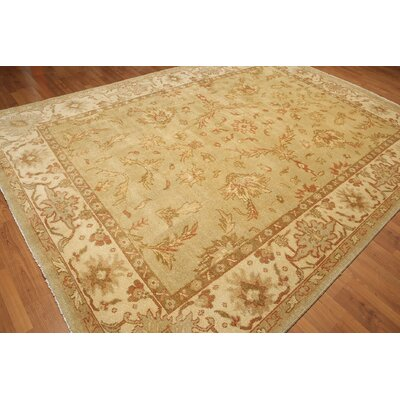 One-of-a-Kind Hameldon Hand-Knotted Wool Beige/Burnt Orange Area Rug