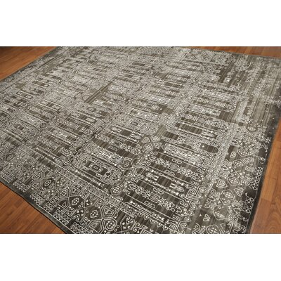 One-of-a-Kind Flaherty Hand-Knotted Gray/Ivory Area Rug