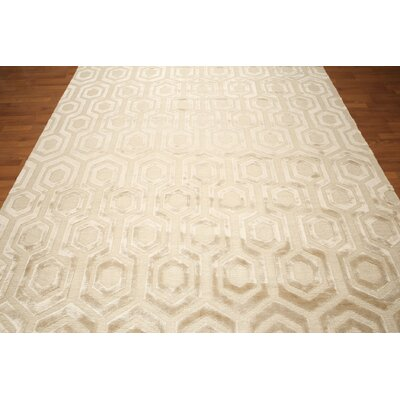 One-of-a-Kind Courville Hand-Knotted Beige Area Rug