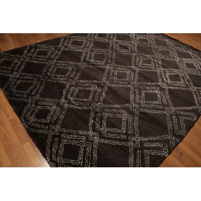 One-of-a-Kind Lorusso Hand-Knotted Wool Chocolate Brown/Beige Area Rug