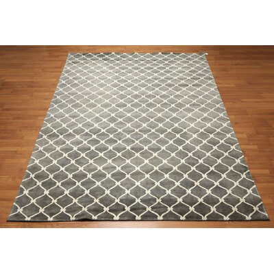 One-of-a-Kind Candelario Tibetan Hand-Knotted Gray Area Rug