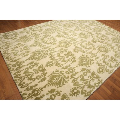 One-of-a-Kind Gruyeres Hand-Tufted Wool Vanilla/Mustard Area Rug