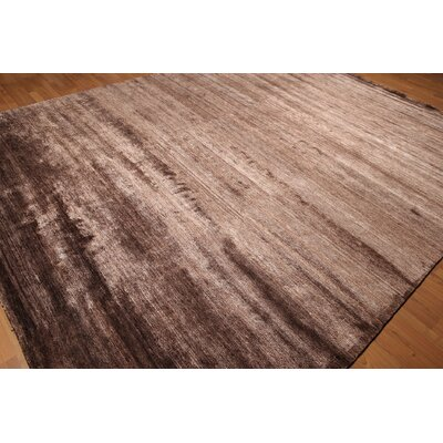 One-of-a-Kind Eckles Hand-Knotted Silk Brown/Copper Area Rug