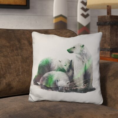 Okelly Polar Bear Family Throw Pillow