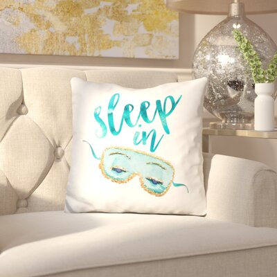 Jacobi Sleep in Mask Throw Pillow