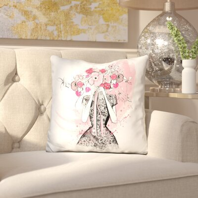 Innis Flirting in Floral Throw Pillow