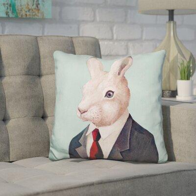 Hibbard Rabbit Throw Pillow