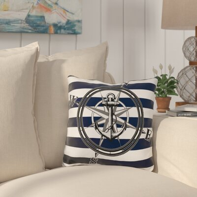 Selborne Striped Nautical Throw Pillow
