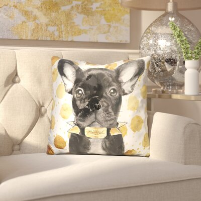 Eliana Blessed Frenchie Throw Pillow
