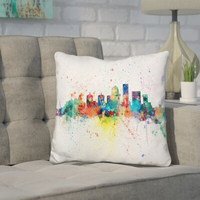Janus Louisville Kentucky City Throw Pillow