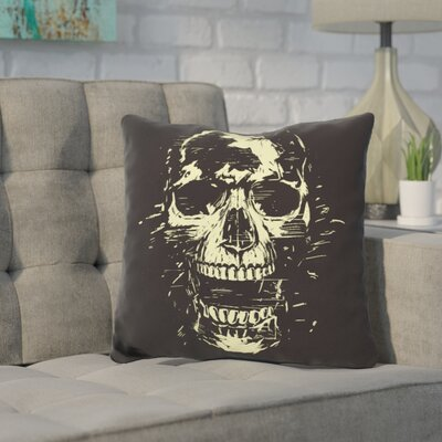 Pavone Scream Throw Pillow Color: Yellow