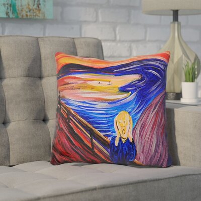 Cornelius The Scream Throw Pillow