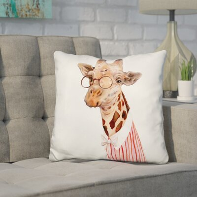 Hetrick Mrs Giraffe Throw Pillow