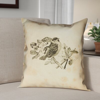 Venezia Vintage Bird Double Sided Throw Pillow Size: 20 x 20