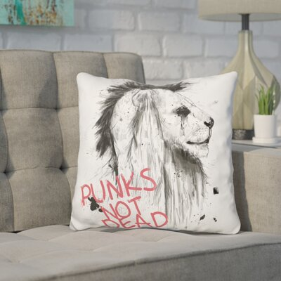 Kershner Punks Not Dead Throw Pillow