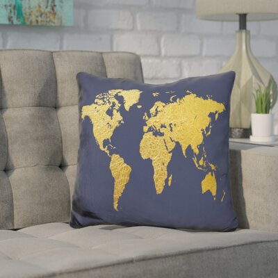 Corlew World Map Throw Pillow