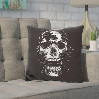 Pavone Scream Throw Pillow Color: White