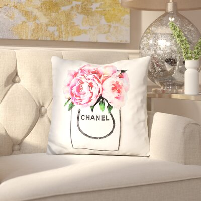 Jakarta Shopper Peonies Throw Pillow