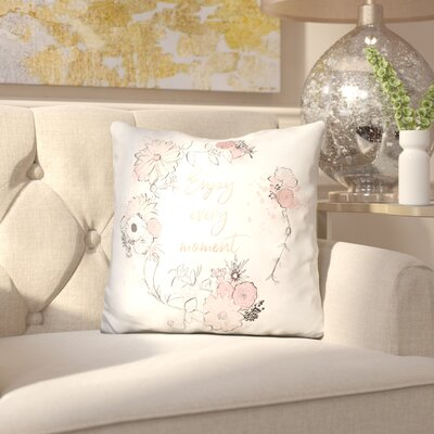 Iniguez Enjoy Every Moment Throw Pillow