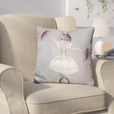 Hearns Miss Lily Rabbit at Circus Tight Rope Spotlight Throw Pillow