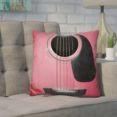 Corktown Guitar Throw Pillow Color: Red
