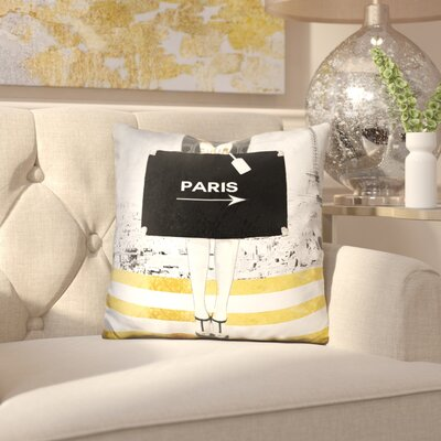 Isaiah Paris Trip Throw Pillow