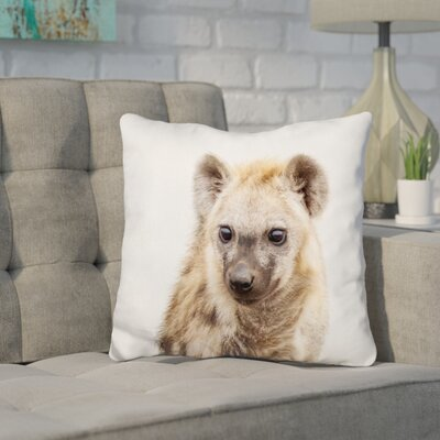 Holifield Hyena Throw Pillow Color: Brown