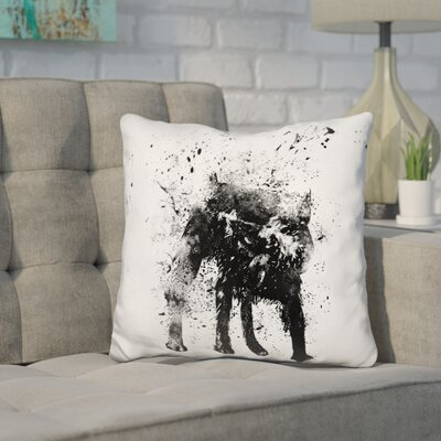 Herron Wetdog Throw Pillow