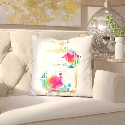 Melia Perfume Bottle Throw Pillow
