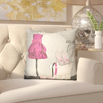 Iser A Dress Fitting Boutique Throw Pillow