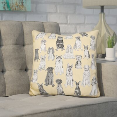 Corinthian Dog Throw Pillow
