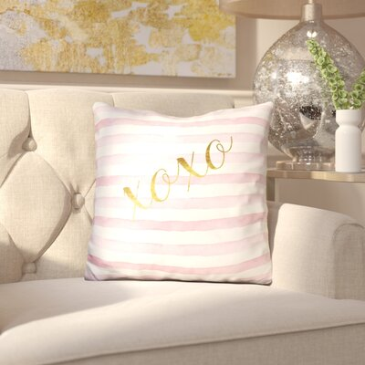 Jaggers Xoxo Stripe Throw Pillow