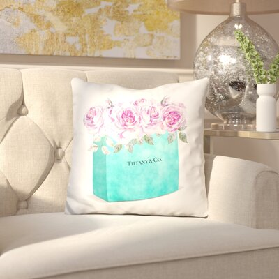 Isley Shipping Bag Roses Throw Pillow