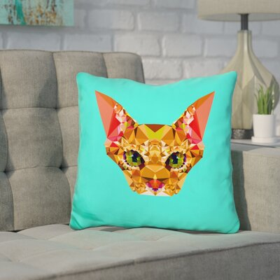 Corker Cat Throw Pillow