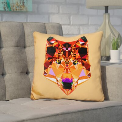Corker Wolf Throw Pillow